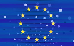 Festive flag of the European Union Stock Images