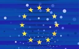 Festive flag of the European Union. Vector illustration Stock Images