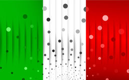 Festive flag of Italy. Vector illustration Royalty Free Stock Images