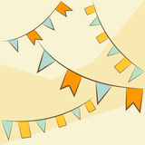 Festive flags illustration. Vector image. Festive flags illustration. Vector image Royalty Free Stock Images