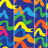 Festive flags of seamless pattern Stock Images