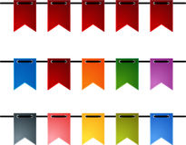 Festive flags. Set of colorful festive flags. EPS 10 Stock Images