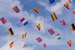 Festive flags Royalty Free Stock Images