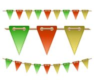 Festive flags on white background. Vector illustration Royalty Free Stock Image