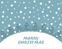 Festive flat Christmas background. Vector illustration. Festive flat Christmas background with Christmas trees and snow. Vector illustration. Holiday greeting Stock Photo