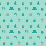 Festive flat Christmas and New year seamless pattern Stock Images