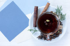 Festive flavored tea Royalty Free Stock Photo
