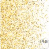 Festive flying gold stars shower. Vector. Festive flying gold stars shower Royalty Free Stock Photo