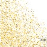 Festive flying gold stars shower. Vector. Festive flying gold stars shower Royalty Free Stock Images