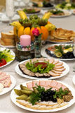 Festive food. Beautifully  banquet table with food Stock Photo