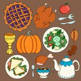 Festive food on the table royalty free illustration