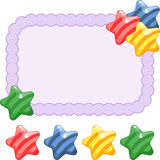 Festive frame with candy. Bright vector illustration. Empty space for your text Stock Photography
