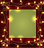 Festive frame with garlands. Christmas decorations. Vector illustration Stock Photo