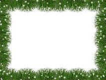 Festive frame of pine needles. Christmas frame of pine needles. New Year Royalty Free Stock Photo