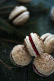 Festive french macaroons Royalty Free Stock Image