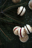 Festive French Macaroons Stock Photo