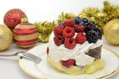 Festive fruit cake Royalty Free Stock Photography