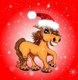 Festive funny horse Royalty Free Stock Image