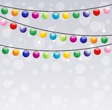 Festive garland, background for a design. Illustration Royalty Free Stock Image