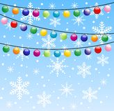 Festive garland, background for a design. Illustration Stock Photos