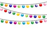 Festive garland, background for a design Stock Images