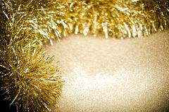 Festive garland on sparkles Stock Photo
