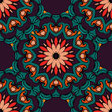 Festive geometric  floral seamless pattern Stock Photo