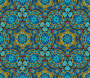 Festive geometric star seamless pattern. Festive geometric kaleidoscopic seamless pattern ethnic tribal background Royalty Free Stock Photography