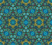 Festive geometric star seamless pattern. Festive geometric kaleidoscopic seamless pattern ethnic tribal background Royalty Free Stock Photography