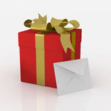 Festive gift. The best gift in the world Stock Images