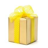 Festive gift box. Isolated on white background Stock Photography