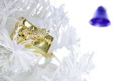 Festive gift box. On white background Stock Images