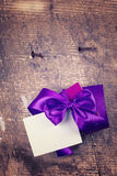 Festive gift box Stock Photography