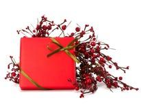 Festive gift box Stock Photo