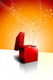 Festive Gift Box Opening. Vector Design Royalty Free Stock Photography