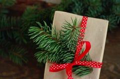 Festive gift box Stock Image