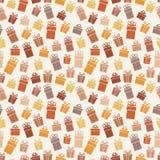 Festive gift box seamless pattern. Illustration Stock Photography