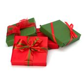 Festive gift box stack Stock Image