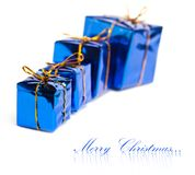 Festive gift boxes Royalty Free Stock Photos