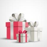 Festive Gift Boxes Stock Image