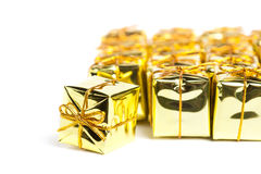 Festive gift boxes isolated Royalty Free Stock Photography