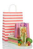 Festive gift, colorful package Stock Images