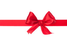 Festive gift ribbon and bow Stock Photo