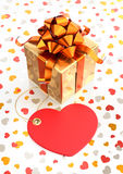 Festive Giftbox. Composition on the subject of Valentine's Day. 3D rendered graphics Stock Photo