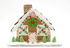 Festive Gingerbread House Royalty Free Stock Photography