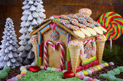 Festive Gingerbread House Stock Photos