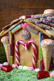 Festive Gingerbread House Royalty Free Stock Image