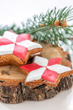 Festive gingerbread. Royalty Free Stock Images