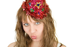 Festive girl Royalty Free Stock Photography