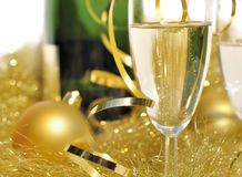 Festive glass of champagne Royalty Free Stock Photography